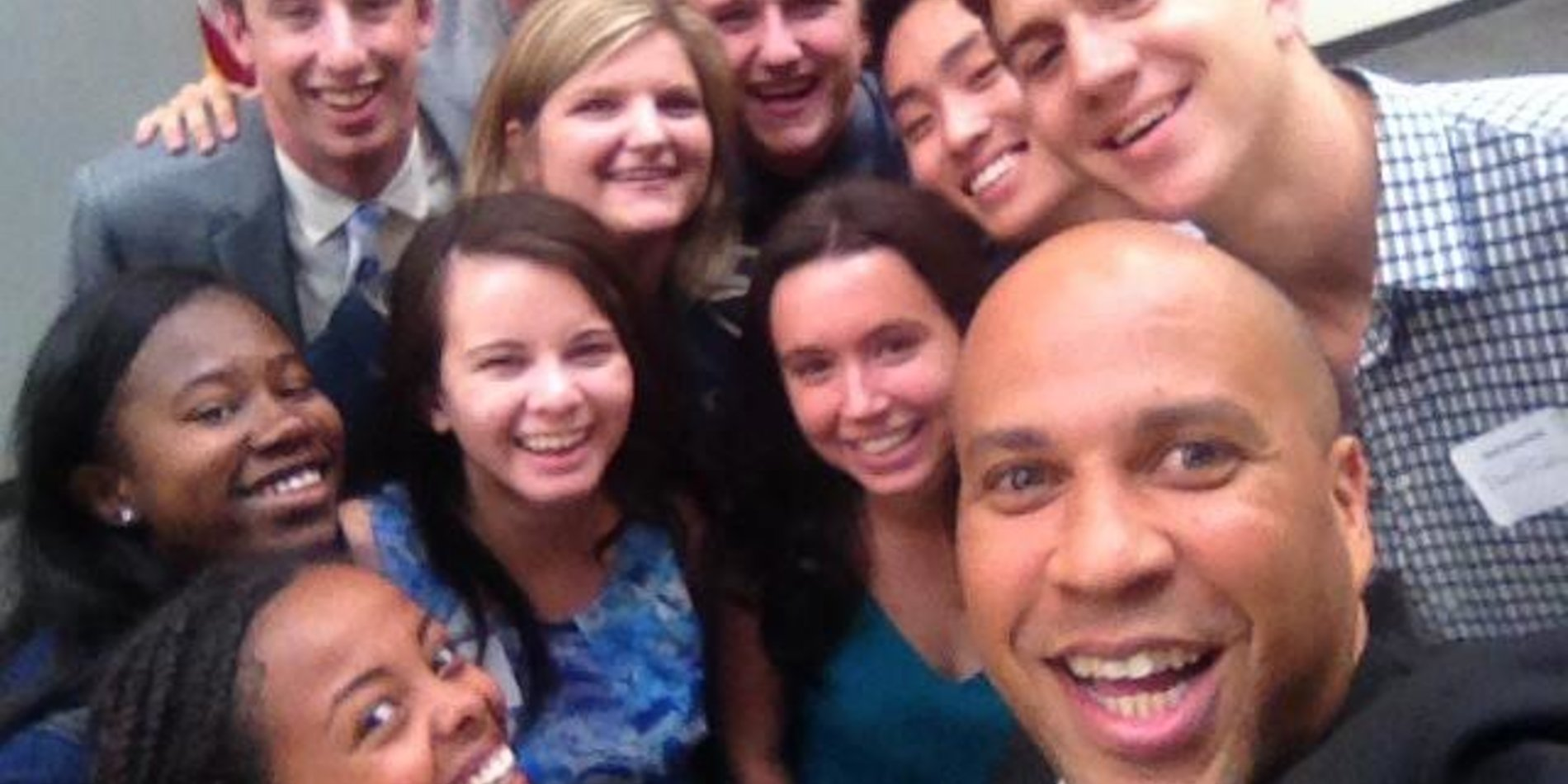 Corey Booker with SIG students